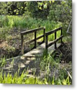 Simple Bridge Metal Print