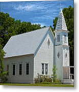 Simple Country Church Metal Print