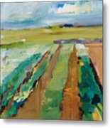 Simple Fields Metal Print