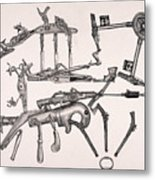 Simple Machines Two Metal Print