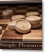 Simple Pleasures Poster Metal Print