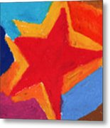 Simple Star-straight Edge Metal Print