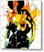 Simplistic Splatter Metal Print