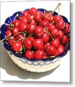 Simply A Bowl Of Cherries Metal Print