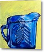 Simply Blue Metal Print by Sheila Tajima
