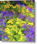 Simply Soft Colorful Garden Metal Print