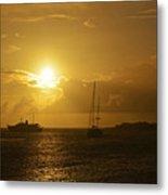 Simpson Bay Sunset Saint Martin Caribbean Metal Print
