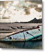 Simpson's Bay Shipwreck Metal Print