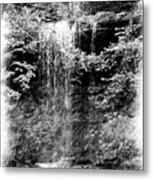 Simulated Pencil Drawing Tinker Falls. Metal Print
