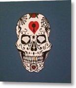 Sin Sugar Skull Metal Print