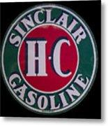 Sinclair Gasoline Porcelain Sign Metal Print