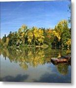 Sindelfingen Germany Lake Klostersee Panorama Metal Print