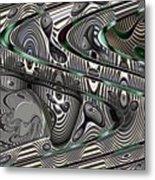 Sine Worlds Metal Print