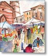 Sineu Market In Majorca 01 Metal Print