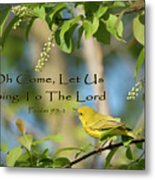 Sing To The Lord Metal Print