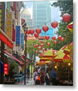 Singapore - Old And New Metal Print