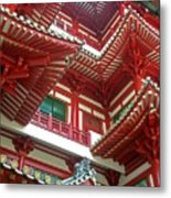 Singapore Buddha Tooth Temple Metal Print