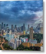 Singapore Cityscape At Sunset Metal Print