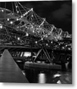 Singapore Helix Bridge Metal Print