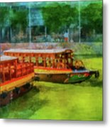 Singapore River Boats Metal Print