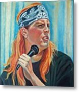 Singer For The Band Metal Print