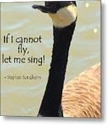 Singing Goose Metal Print