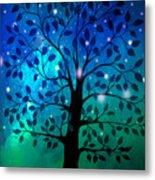 Singing In The Aurora Tree Metal Print