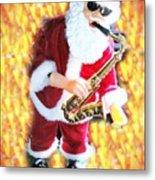 Singing Santa Metal Print