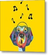 Singing The Blues - Dog Humor Metal Print