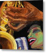 Singing The Blues Metal Print