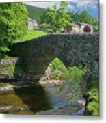Single Arch Stone Bridge - P4a16018 Metal Print