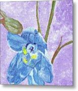 Single Delphinium Flower Metal Print