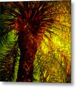 Single Palm Metal Print