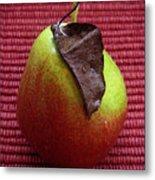 Single Pear Too Metal Print