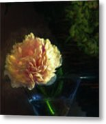 Single Peony Metal Print