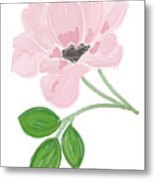 Single Pink Flower Metal Print