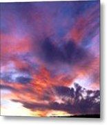Singular Sunset Metal Print