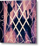 Sinister Figure Painted On A Curtain Metal Print