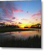 Sink Creek Sunset Metal Print
