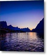 Sinset Over Lofoten Islands Metal Print
