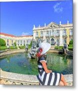Sintra Travel Woman Metal Print