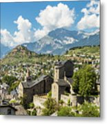 Sion Old Town In Switzerland Metal Print