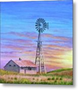 Sioux County Sunrise Metal Print