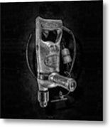 Sioux Drill Motor 1/2 Inch Bw Metal Print