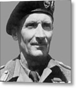 Sir Bernard Law Montgomery  Metal Print
