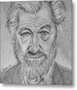Sir Ian Machellen Metal Print