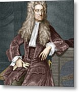 Sir Isaac Newton, British Physicist Metal Print by Sheila Terry