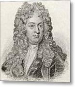 Sir John Vanbrugh, 1664 To 1726 Metal Print