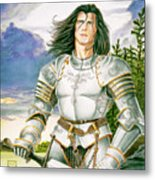 Sir Lancelot Metal Print