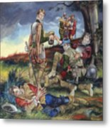 Sir Philip Sidney At The Battle Of Zutphen Metal Print
